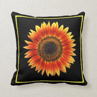 An Amazing Autumn Beauty Sunflower Throw Cushion
