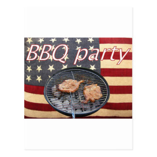 An American BBQ party Postcard