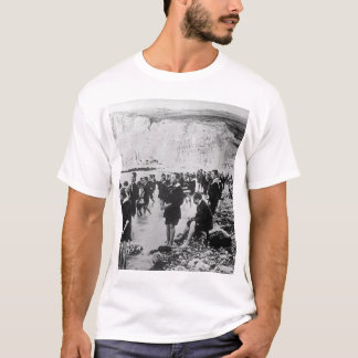 An American Red Cross outing center on_War Image T-Shirt