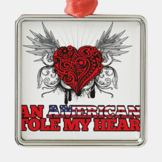 An American Stole my Heart Ornament