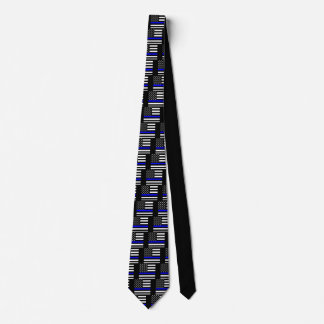 An American Thin Blue Line Display Tie