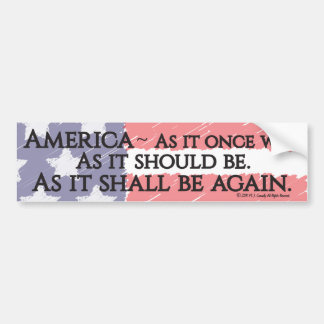 """An American Toast"" bumper sticker"