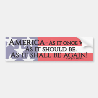 """An American Toast"" bumper sticker. Bumper Sticker"