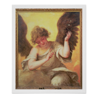 An Angel holding a Glass Flask Poster