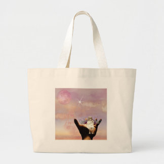 An angel in my hand large tote bag