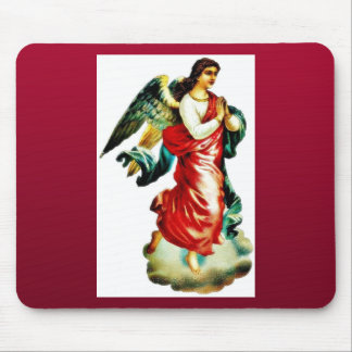 An angel in red color dress praying mouse pad