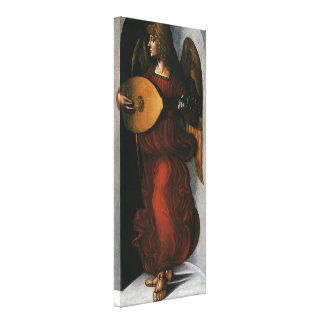 An Angel in Red with a Lute by Leonardo da Vinci Canvas Print