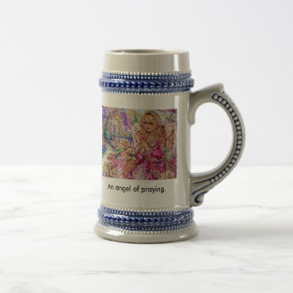 An angel of praying., An angel of praying. Beer Stein