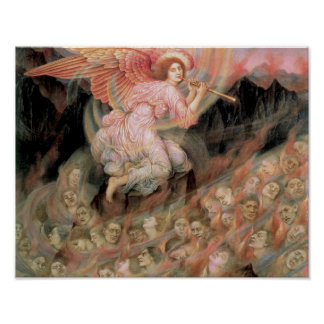 An Angel Piping to the Souls in Hell Poster