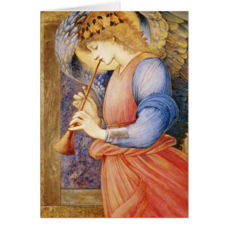An Angel Playing a Flageolet Card