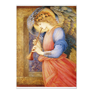 """An Angel Playing a Flageolet 5"""" X 7"""" Invitation Card"""