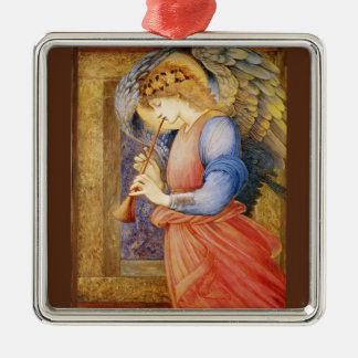 An Angel Playing A Flageolet Metal Ornament
