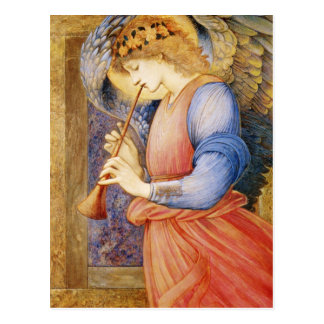 An Angel Playing a Flageolet Postcard