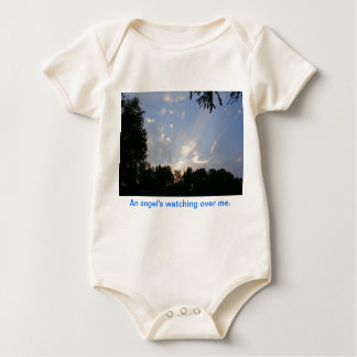 An Angel's watching over me organic onesy Baby Bodysuit