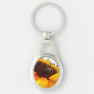 An Angled Sunflower Key Ring