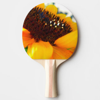 An Angled Sunflower Ping Pong Paddle