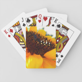 An Angled Sunflower Playing Cards