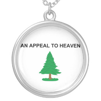 An Appeal To Heaven American Revolution Flag Round Pendant Necklace