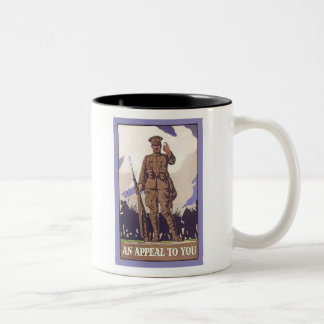 An Appeal to You Vintage Recruitment Poster Two-Tone Mug