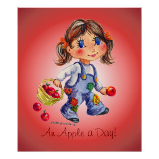 AN APPLE A DAY by SHARON SHARPE Poster