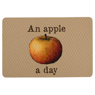 An apple a day floor mat