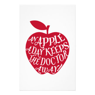 An apple a day keeps the doctor away customised stationery