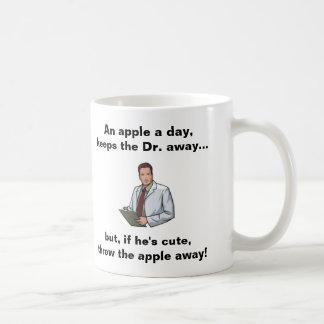 An Apple a Day, Keeps the Dr Away Basic White Mug