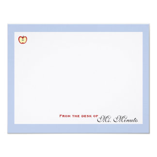 An Apple A Day Personalized Stationery 11 Cm X 14 Cm Invitation Card
