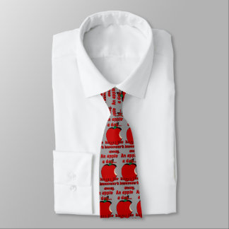 An Apple a Day Tie