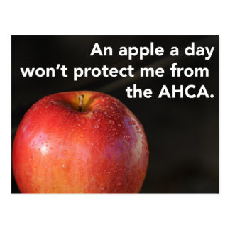 An apple a day to stop the AHCA! Healthcare Postcard