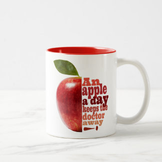 An apple a day Two-Tone coffee mug