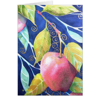 """An Apple A Day"" Watercolor Card"