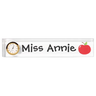 An Apple For Teacher Name Plate