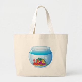 An aquarium with sea creatures jumbo tote bag