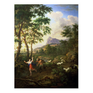 An Arcadian Landscape with Pan and Syrinx Postcard