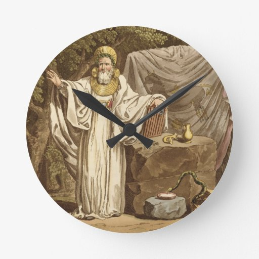 An Arch Druid in his Judicial Habit, engraved by R Wallclocks