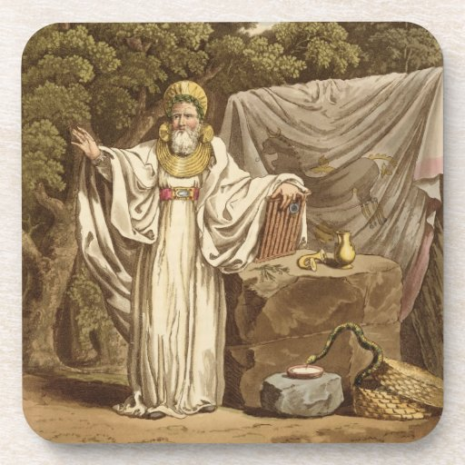 An Arch Druid in his Judicial Habit, engraved by R Drink Coaster