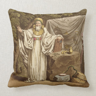 An Arch Druid in his Judicial Habit, engraved by R Throw Pillow