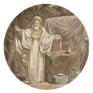 An Arch Druid in his Judicial Habit, engraved by R Dinner Plate