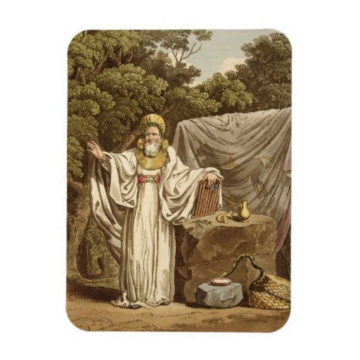 An Arch Druid in his Judicial Habit, engraved by R Vinyl Magnet
