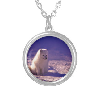 An Arctic Fox in Norway Silver Plated Necklace