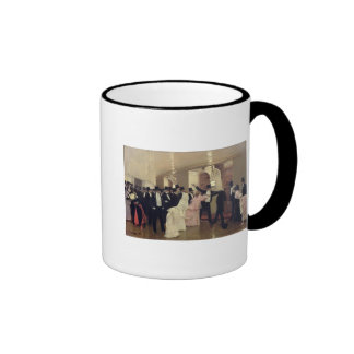 An Argument in the Corridors of the Opera, 1889 Ringer Mug