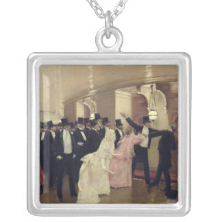 An Argument in the Corridors of the Opera, 1889 Square Pendant Necklace