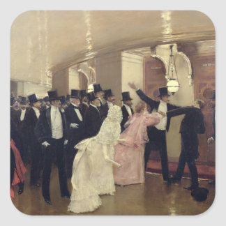 An Argument in the Corridors of the Opera, 1889 Square Sticker