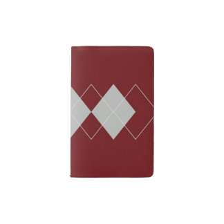 An Argyle Pattern 3 Pocket Moleskine Notebook