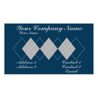 An Argyle Pattern Business Card Templates