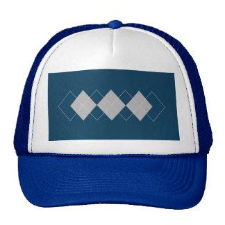 An Argyle Pattern Trucker Hats