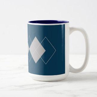 An Argyle Pattern Mugs