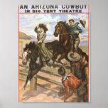An Arizona Cowboy Retro Theatre Poster