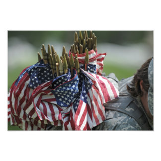 An Army soldier's backpack Photographic Print